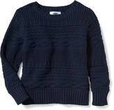 Old Navy Cable-Knit Crew-Neck Sweater for Toddler Boys