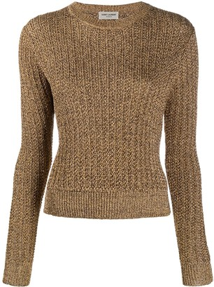 Saint Laurent Ribbed Knit Jumper