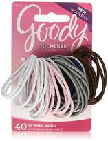 Goody Ouchless No-metal Hair Tie Elastics, Pretty In Pastel, Pack of 3