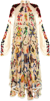 Chloé Ink-blot print high-neck gown