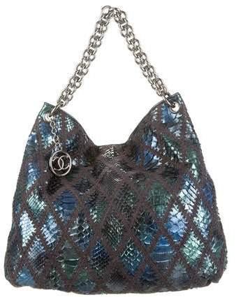 Chanel Python Soft And Chain Hobo