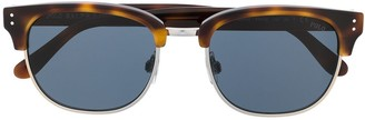 Polo Ralph Lauren Half-Frame Tinted Tortoiseshell Sunglasses