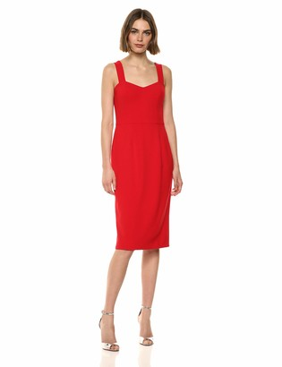 Dress the Population Women's Nicole Sleeveless Bodycon Stretch Midi Sheath Dress