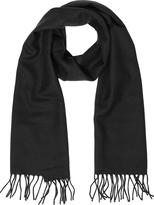 Lanvin Solid Wool Fringed Men's Scarf