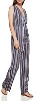 BCBGeneration Stripe V-Neck Jumpsuit