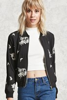 Forever 21 FOREVER 21+ Embroidered Bomber Jacket