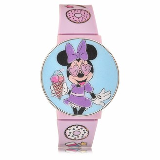 Disney Girls' Quartz Watch with Plastic Strap