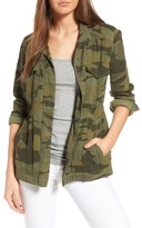 Splendid Women's Camo Print Military Jacket