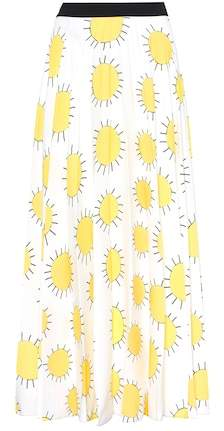 Christopher Kane Printed crêpe skirt