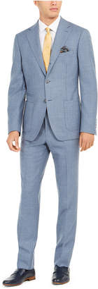 Tallia Men Slim-Fit Stretch Blue Sharkskin Suit