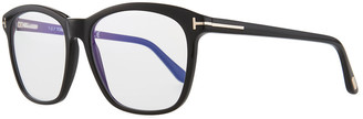 Tom Ford Blue Block Two-Tone Transparent Acetate Square Optical Frames