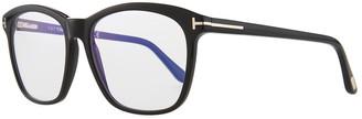 Tom Ford Blue Block Two-Tone Transparent Acetate Square Optical Frames
