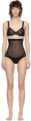 Wolford Black Tulle Control Briefs