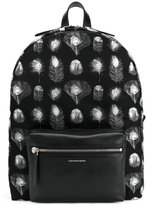 Alexander McQueen peacock feather print backpack - men - Leather/Nylon - One Size