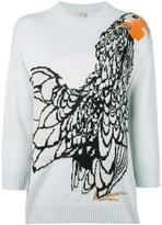 Temperley London Bird jacquard knit jumper