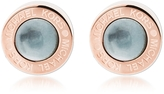 Michael Kors Logo PVD Rose Goldtone Stainless Steel Stud Earrings