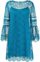Alberta Ferretti embroidered lace layered dress