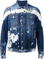 DSQUARED2 embroidered denim jacket - men - Cotton/Spandex/Elastane - 44