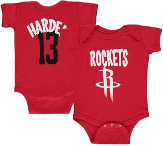 Infant James Harden Red Houston Rockets Name & Number Creeper