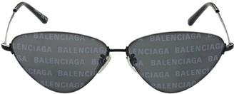 Balenciaga 0015s Invisible Cat-Eye Metal Sunglasses