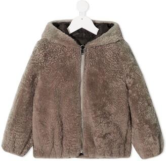 BRUNELLO CUCINELLI KIDS Zip-Up Hooded Coat