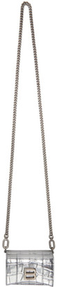 Balenciaga Silver Croc Mini Hourglass Wallet Bag