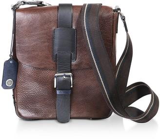 Chiarugi Dark Brown Leather Men's Crossbody Bag