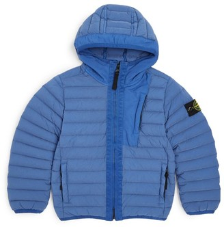 Stone Island Junior Down-Filled Logo Puffer Jacket (4-14 Years)