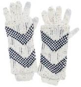 Muk Luks Women's Shag Texture 3-in-1 Gloves