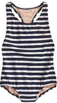 J.Crew Girls' racerback one-piece swimsuit in stripe