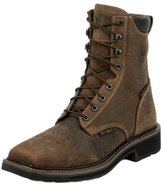 Justin Boots Justin Work Boots Mens Stampede Lace Up Composite Toe Rust WK462