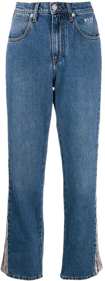 MSGM python-effect stripe jeans