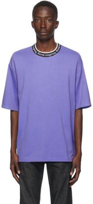 Acne Studios Purple Jacquard Logo T-Shirt