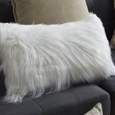 Alanna Mongolian Throw Pillow Rosdorf Park Color: Bright White