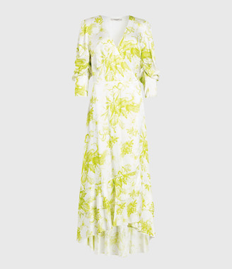 AllSaints Tage Riyaz Silk Blend Dress