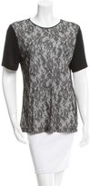 Jason Wu Lace-Accented Short Sleeve Top