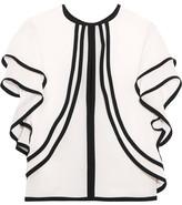 Elie Saab Ruffled Silk-georgette Top - Off-white