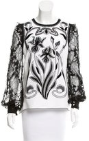Andrew Gn Floral Appliqué Top w/ Tags