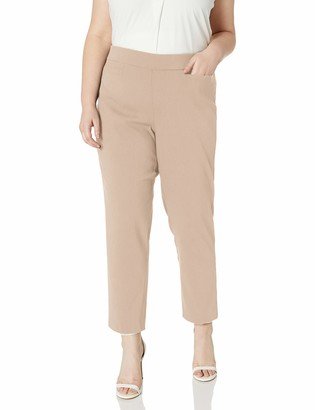Alfred Dunner Women's Allure Slimming Plus Size Stretch Pants-Modern Fit