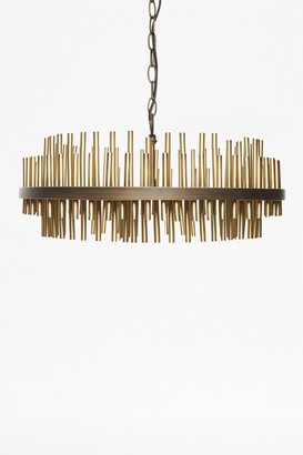 French Connection Gold Pipe Ceiling Light