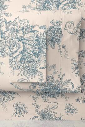 Melange Home King 400 Thread Count Cotton Toile Sheet 4-Piece Set