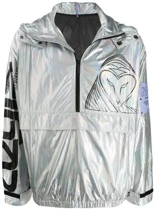McQ Metallic Logo Print Jacket