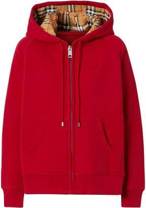 Burberry hooded zip-up hoodie