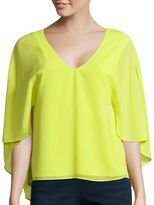 Bisou Bisou Cape-Sleeve Top