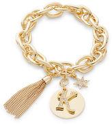 RJ Graziano K Initial Chain-Link Charm Bracelet