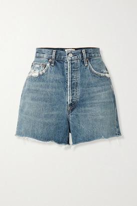 AGOLDE Dee Distressed Denim Shorts - Blue