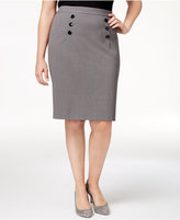 Nine West Plus Size Sailor Pencil Skirt