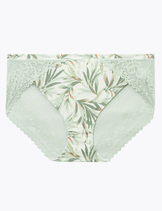Marks and Spencer Sumptuously Soft Palm Print Knickers