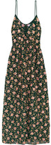Ashish Embellished Embroidered Silk-georgette Maxi Dress - Emerald