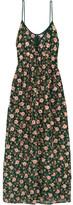 Ashish Embellished Embroidered Silk-georgette Maxi Dress - Emerald